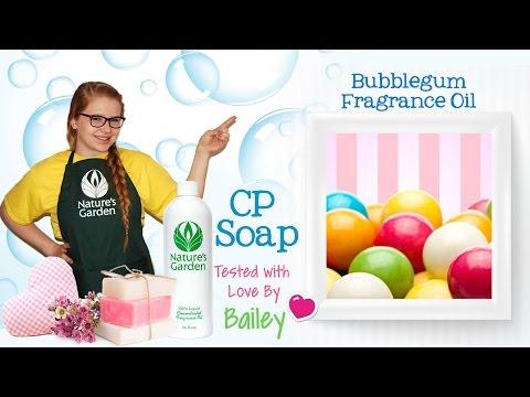 Soap Testing Bubblegum Fragrance Oil- Natures Garden