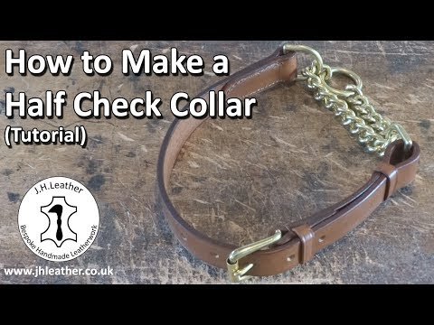 How to Make a Half Check Collar - Tutorial