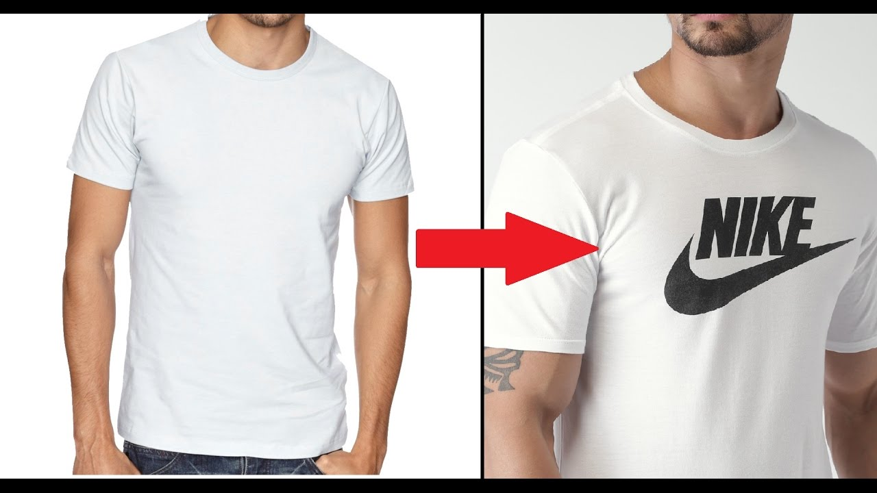 Make Your Own DIY Custom Brand T-Shirt Without Transfer Paper ...