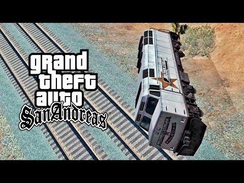 GTA San Andreas - #44: Capotando Um TREM