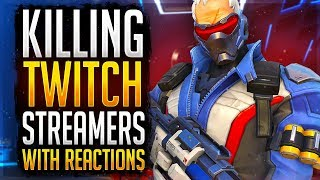 So I Focused A Twitch Streamer... AND HE RAGED! Killing Twitch Streamers #1 (Overwatch)