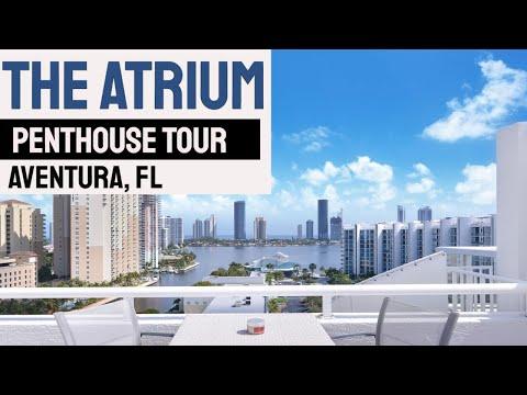 THE ATRIUM AVENTURA: Waterfront Penthouse Video Tour 3131 NE 188 ST  Aventura, FL 33180