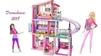 Barbie Dreamhouse 2018 Unboxing Step By Step Assembly Fullhouse Tour boneka Barbie rumah impian