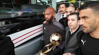 لحظة وصول فريق الزمالك مطار القاهرة بعد الفوز بكأس السوبر..وسبب انفعال شيكابالا