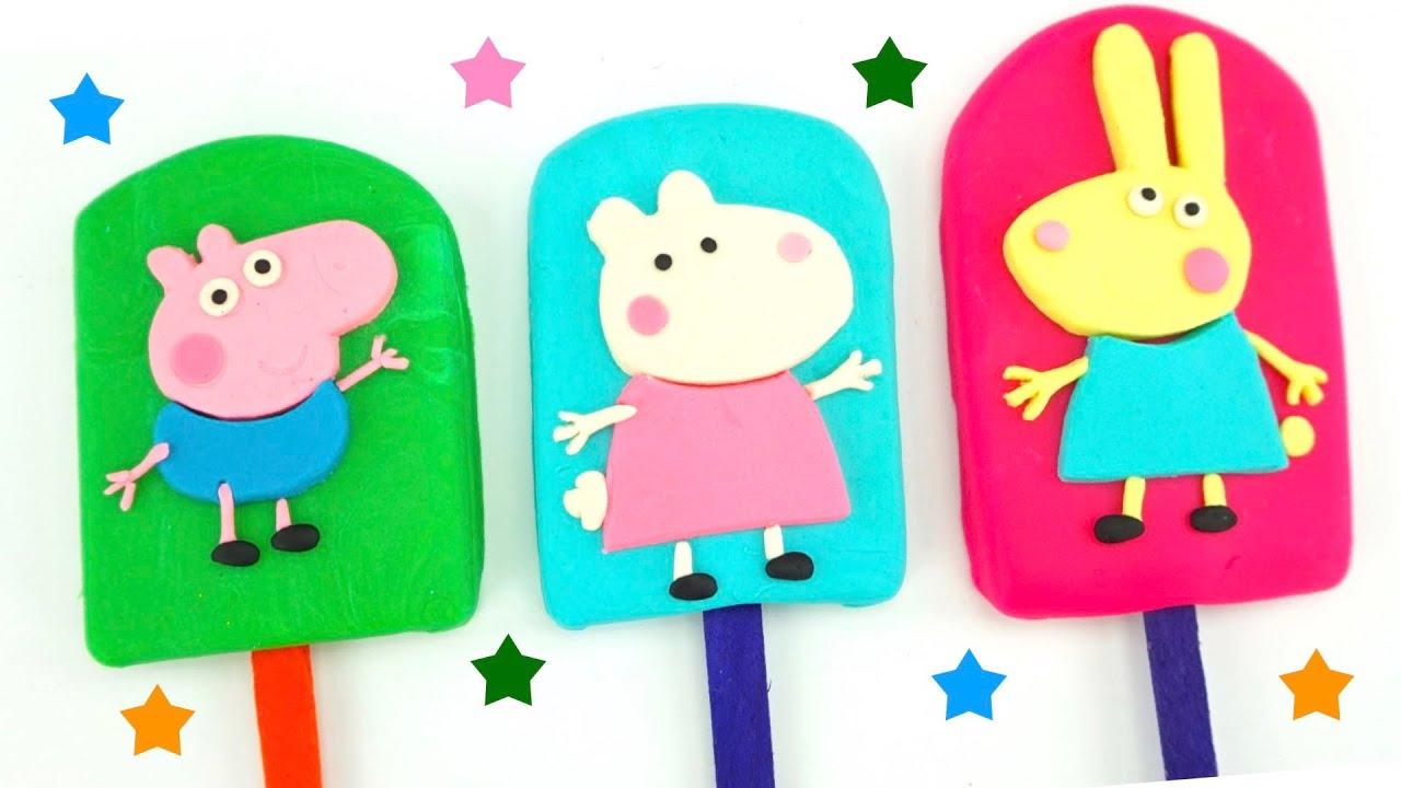 Свинка Пеппа сборник видео - пластилин, игрушки, сюрпризы