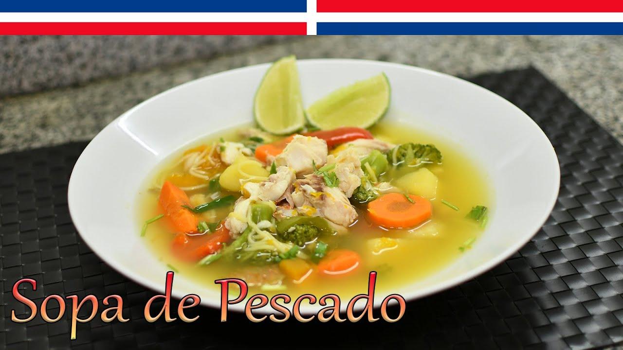 Sopa de Pescado - Cocinando con Yolanda