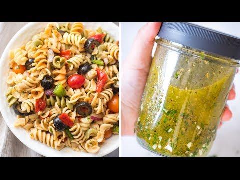 Vegan Pasta Salad with Homemade Italian Dressing