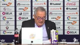 Rueda de prensa para anunciar la votación sobre la reforma del estadio de El Sadar
