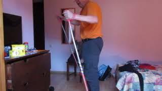 ВидеоУрок 3. Основная г-лыжная стойка, винтоугловое движение (обучение г-лыжной технике, MVI 1632)