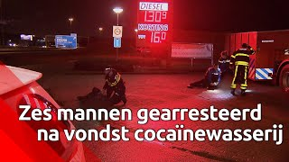 Politie vindt zes verstopte mannen in cocaïnewasserij