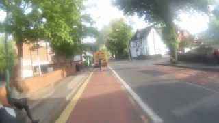 Pedestrian Steps Out - hit by cyclist - Nottingham