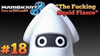 "Mario Kart 8 Multiplayer Gameplay   Mario Kart 8 #18   ""The F*cking Squid Fiasco"""