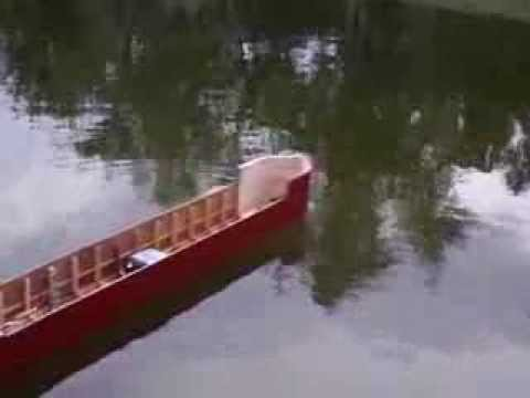 R/C Saginaw Lake Freighter- first test run for hull