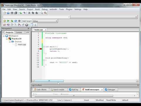 C++ Tutorial 3:  Methods/Forward Referencing