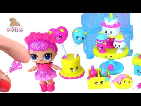 #LOL Surprise Baby Dolls Pool Party #Shopkins КУКЛЫ ЛОЛ ВЕЧЕРИНКА Petkins НОЖНИЦЫ ДЛЯ КУКОЛ Петкинсы