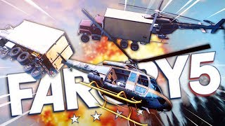 FLYING A TRUCK WITH A HELICOPTER ... what have we done ?! • Far Cry 5 Funny Moments ( Co-op )