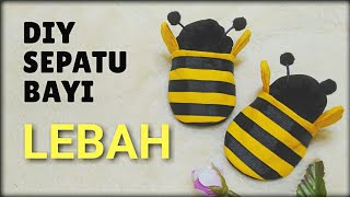 DIY. How to make baby bee shoes