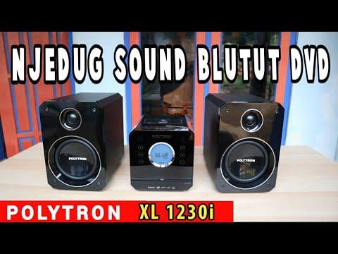 Wireless Speaker Polytron Micro Hifi XL 1230i DVD Bluetooth Portable Docker Iphone Unboxing Review