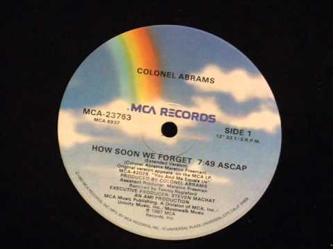 Colonel abrams - How soon we forget