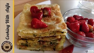 Aloo paratha recipe with red chili pickles-Potato stuffed paratha-crispy aloo paratha recipe-