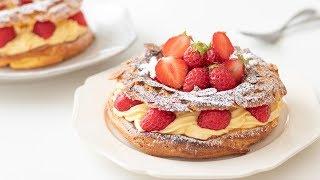 いちごのパリブレストの作り方 Strawberry Paris-Brest|HidaMari Cooking