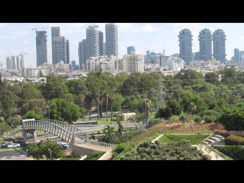 The wonderful landscape of Tel Aviv and Ramat Gan from the Yitzhak Rabin Center Israel