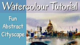 How to Paint Easy Watercolour Cityscape  For Beginners Wet in Wet