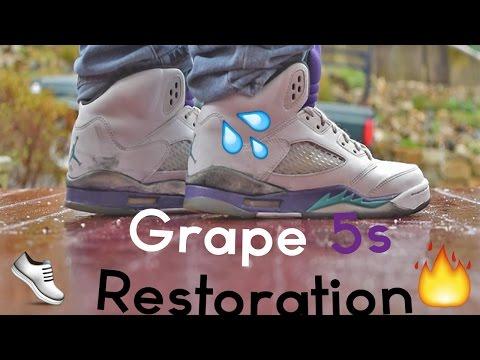 "Air Jordan Retro 5 "" Grape "" Restoration"