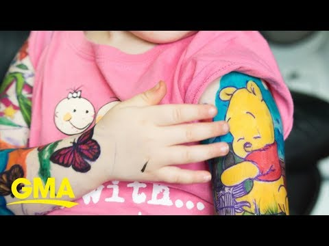 Karla Cantrell - 3 year old gets Tattoos!?  #GoodNews