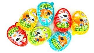 Сюрпризы и игрушки Ми Ми Мишки  Октываем яйца сюрпризы с героями мультика Ми Ми Мишки