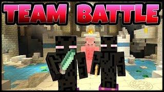 Minecraft Battle Mode Team War- Mini Game Console Edition Multiplayer Gameplay