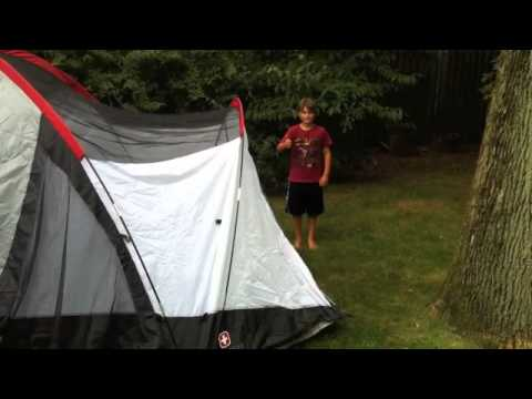 How to assemble our Swiss Gear 8 person tent & How to assemble our Swiss Gear 8 person tent - YouTube