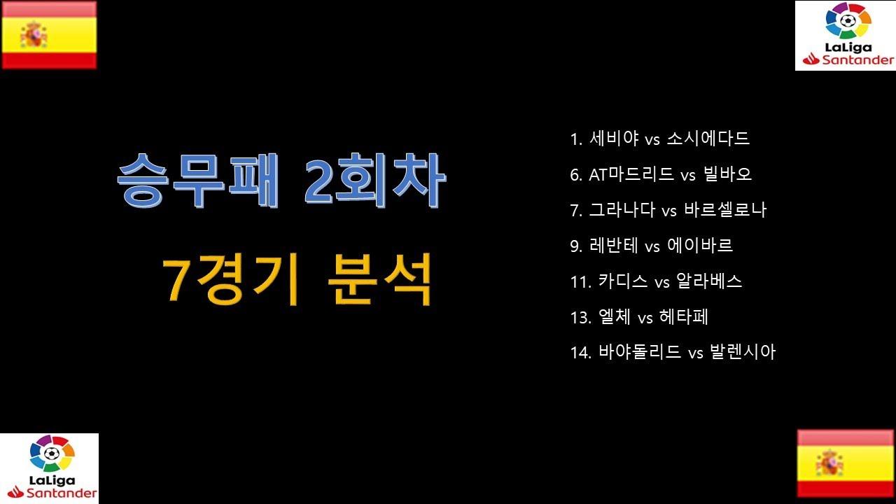 승무패 2회차 프리메라리가  대상경기 프리뷰// 축구 데이터 분석 // 축구분석하는 여자