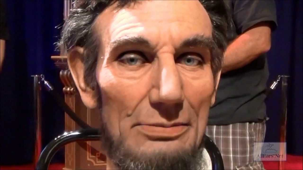 Abraham Lincoln Audio Animatronic Facial Demonstration