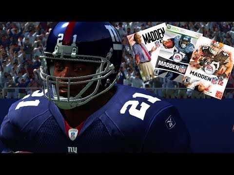 TIKI BARBER THROUGH THE YEARS FROM MADDEN 98 THROUGH MADDEN 07 & MADDEN 12