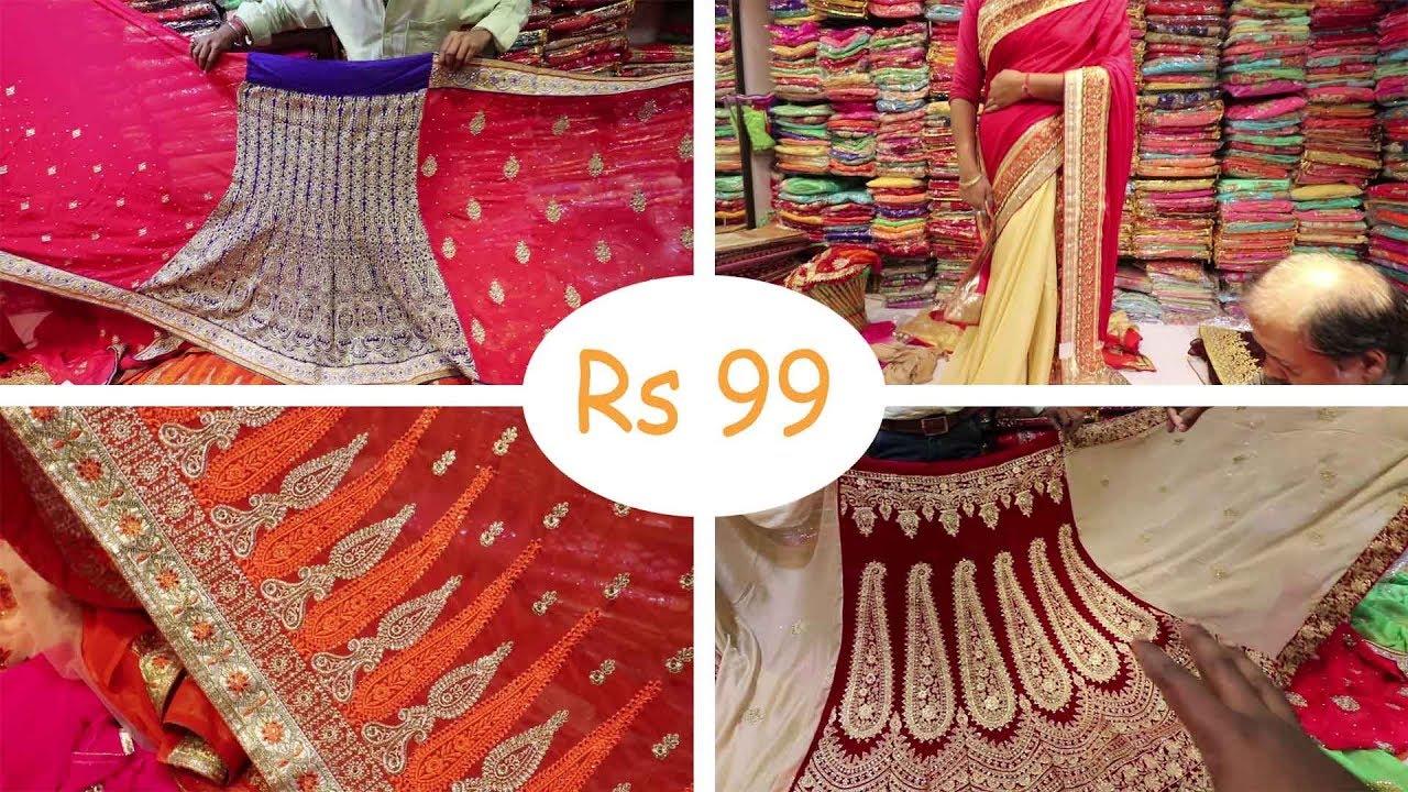 0c7c1582cd Saree Wholesale Market With Price | Banarasi sari | Lehenga Saree ...