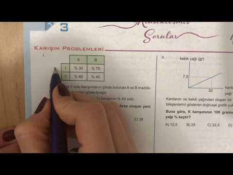 345 TYT Matematik Karışım Problemleri Test-3 Anlatımlı Çözümleri (2018-2019 Basım)