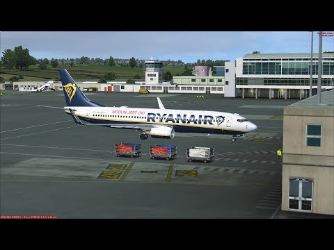 Newcastle to Malaga Ryanair PMDG 737-800 FSX Stream on Vatsim