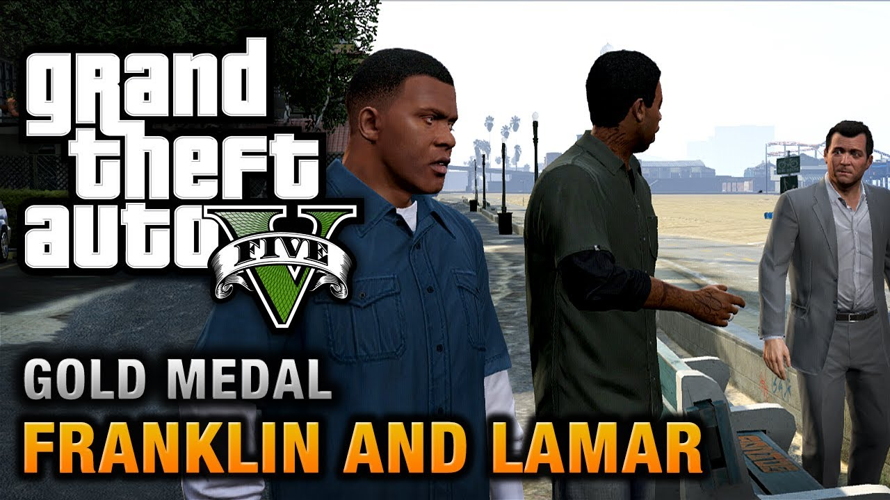 Gta  Intro Mission  Franklin And Lamar  Gold Medal Walkthrough Youtube