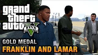 GTA 5 - Intro & Mission #1 - Franklin and Lamar [100% Gold Medal Walkthrough] thumbnail