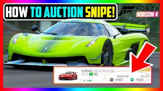 NEW How to AUCṪION SNIPE in Forza Horizon 4 SUCCESSFULLY - Forza Horizon 4 Auction House Sniping!