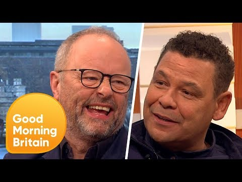 Craig Charles and Robert Llewellyn Have Everyone in Stitches!  Good Morning Britain