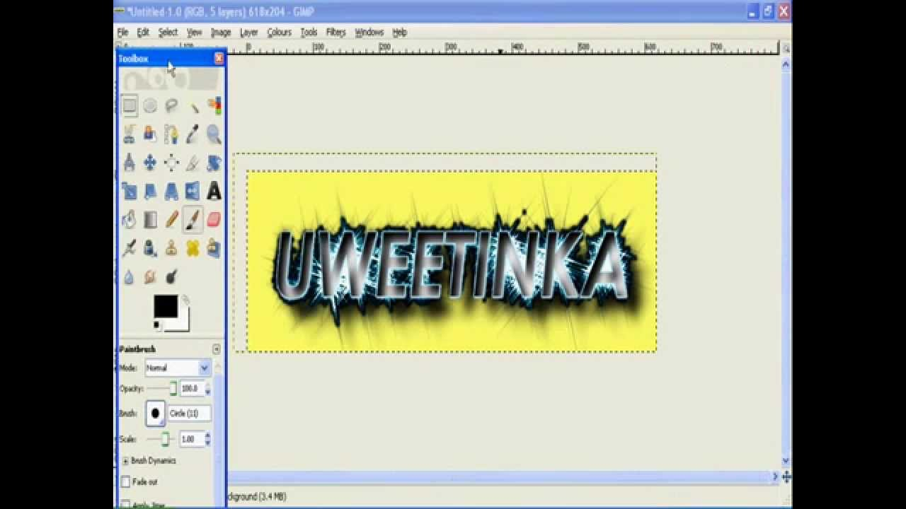How to make a cool title in gimp 2.6 - YouTube