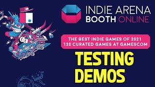 Playing Indie Demos! Indie Arena Booth Online Part of Gamescom 2021