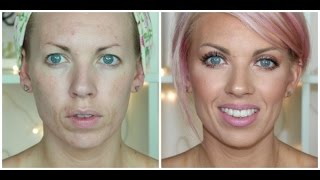 full coverage foundation routine for wrinkles acne prone skin