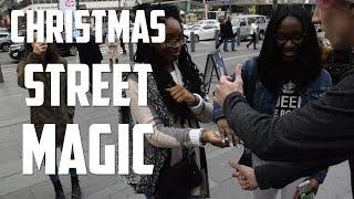 AMAZING Christmas Street Magic In Philadelphia | The Prophets Magic