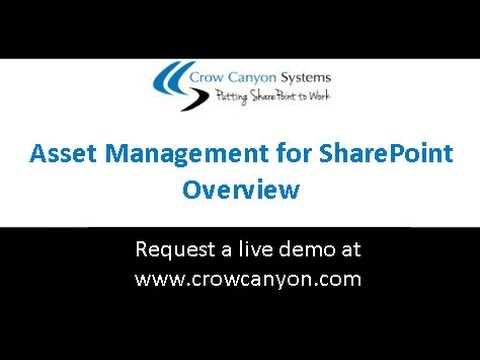 Asset Management for SharePoint and Office 365 - Crow Canyon