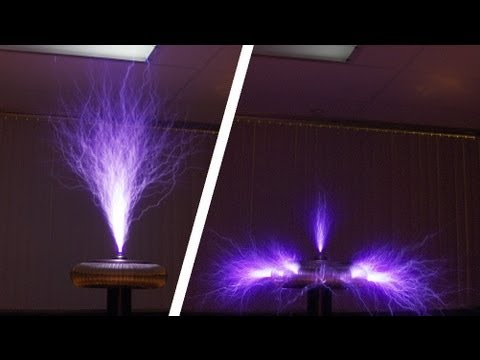 0081 Striking Differences In Tesla Coil Brush Discharge