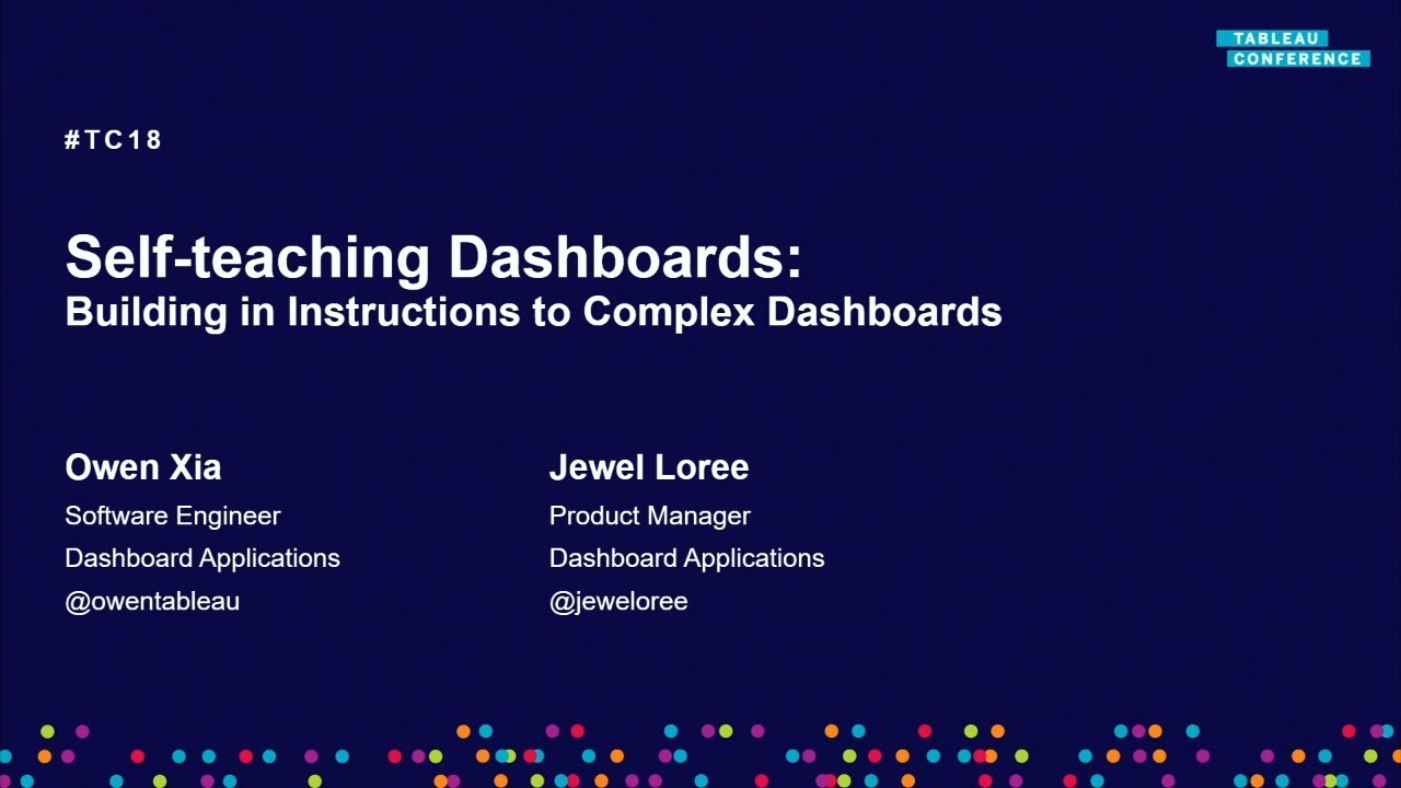 Self-teaching dashboards | Building in instruction to complex dashboards
