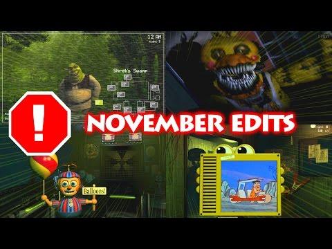 FNaF Edits COMPILATION | November 2016 | epicsurfingvids
